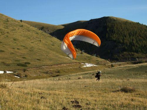 Parašiutas, Paragliding, Ekstremalus Sportas, Sportas, Vėjas, Kalnas, Vairuoti Aitvarą Buriavimo
