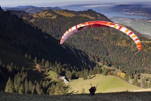 Paragliding, Pradėti, Paragleris, Nukirpimo Stadija, Skristi, Ekranas, Ekstremalus Sportas, Oro Sportas