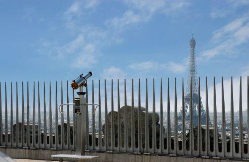 paris,tvora,Eifelio bokštas,vaizdas,kelionė,žiūronai,Europa,arc de triumph,orientyras,dangus,debesys,toli,taikus,ilgesys,matyti