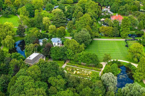 parkas,sodas,miestas,medis,žolė,miesto panorama,oro vaizdas,Rotterdam,Nyderlandai,holland,Europa