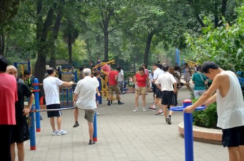 parkas, žmonės, pratimas, poilsis, atsipalaiduoti, parko poilsis