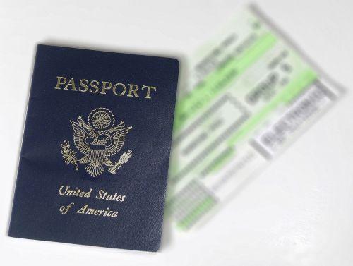pasas, bilietas, skrydis, usa, kelionė, turizmas, atostogos, verslas, kelionė, šventė, dokumentas, įlaipinimas, kelionė, lėktuvas, oras, tapatybė