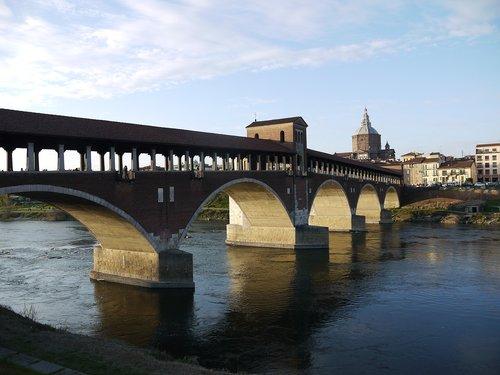 Pavia,  Ticino,  Italija,  Tiltas,  Upė