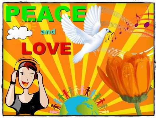 fonas, kortelė, taika, meilė, žmonės, gyvūnai, simbolis, gamta, žemė, sauermaul, taika ir meilės kortelė