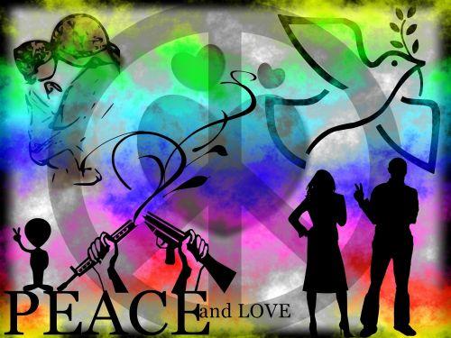 fonas, kortelė, plakatas, taika, laisvė, gyvūnai, balandis, žmonės, motina, vaikas, moteris, vyras, simbolis, gėlės, sauermann, taika meilės laisvė