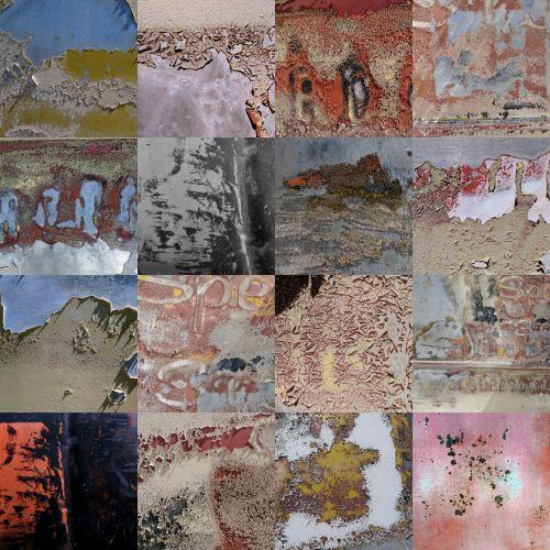 lupimas & nbsp, dažai, Grunge, koliažas, fonas, tapetai, lupimasis dažų fonas