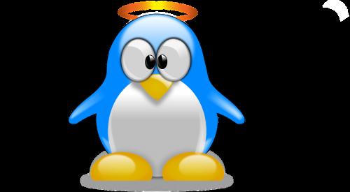 pingvinas,Tux,gyvūnas,paukštis,mielas,animacinis filmas,lux,angelas,linux,linux-free,Gnu,nemokama vektorinė grafika