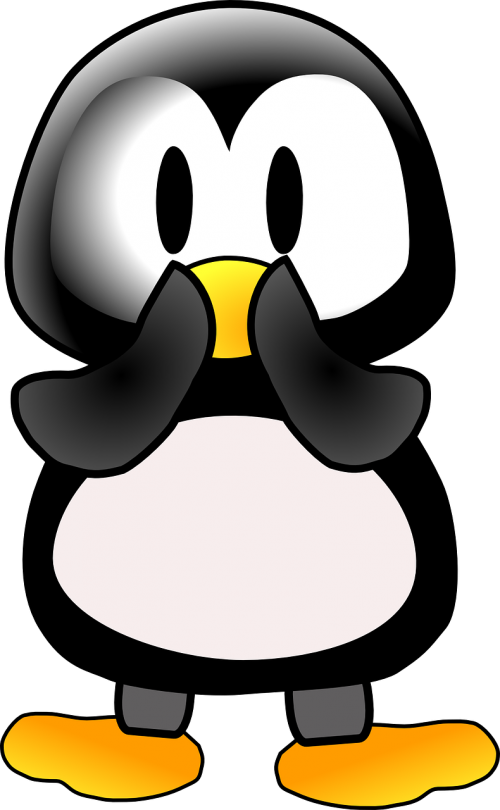 pingvinas,siurprizas,gyvūnas,šaltas,išsigandęs,išgąsdinti,drovus,mielas,nemokama vektorinė grafika