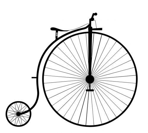 Penny farthing,dviratis,dviratis,senas,ratas,vintage,Senovinis,ciklą,sėdynė,gabenimas,farthing,centas,aukštas,penny farthing,retro,transportas,nostalgija,klasikinis,kelionė,juoda,padanga,ratukas,meno kūriniai,dizainas,piešimas,balta,istorija,siluetas,menas,Scrapbooking,izoliuotas,fonas,vaizdas,ratai