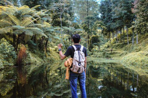 žmonės,vyras,nuotykis,lauke,vienas,žalias,žolė,medžiai,ruduo,geltona,ežeras,vanduo,gamta