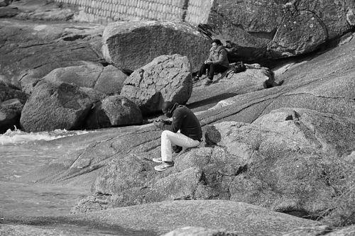 vyras, charakteris, portretas, vienatvė, vienišas, telefonas, charakteris