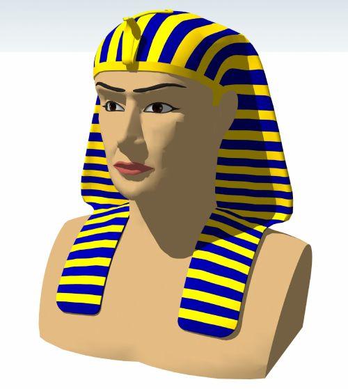 vaizdas, faraonas, veidas, izoliuotas, spalva, tutenkhamun, karalius, pavadinimas, senovės, egyptian, istorija, faraonas ii