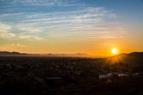 phoenix az,saulėlydis,dykuma,az,Arizona,Vakarų,kraštovaizdis,horizontas,gamta,miestas,pietvakarius,Sonoran,phoenix arizona,amerikietis,debesys,slėnis,karštas,dangus,phoenix,usa,scottsdale,Saguaro