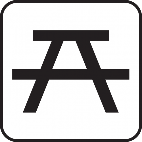 Vieta iškylai,stendas,Poilsio vieta,poilsio vieta,simbolis,ženklas,piktograma,nemokama vektorinė grafika