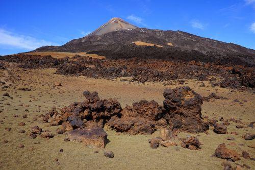 pico del teide,teide,Pico,Rokas,akmenys,toli,kelias,atsekti,smėlis,dykuma,mėnulio kraštovaizdis,migracijos kelias,pemza akmuo,lava,Teide nacionalinis parkas,Tenerifė,Kanarų salos