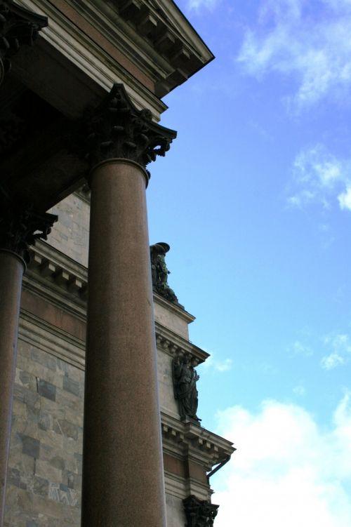 katedra, bažnyčia, pastatas, religija, istorinis, architektūra, ramstis, dangus, ramstis, Isaaco katedra