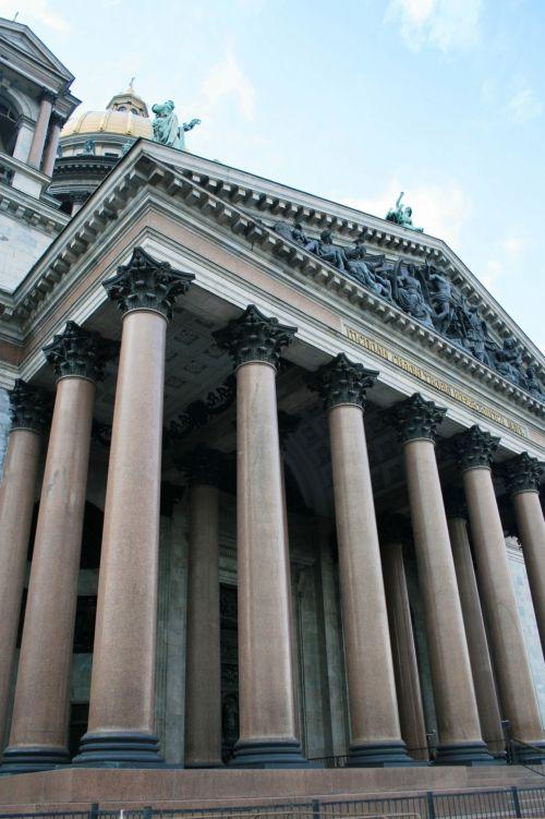 katedra, bažnyčia, pastatas, religija, istorinis, architektūra, stulpai, fasadai, stulpai, Isaaco katedra
