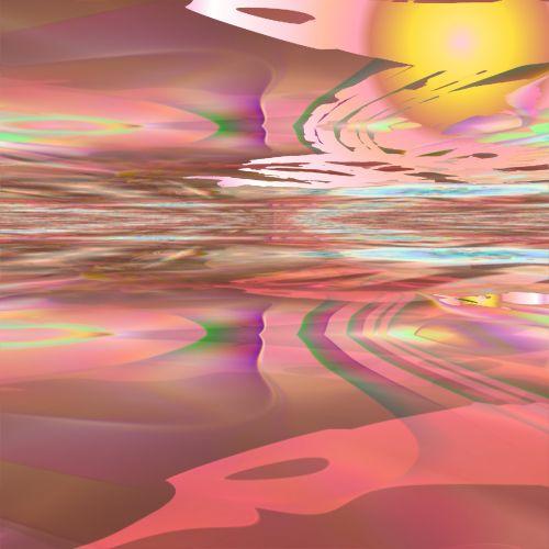 rožinis, dykuma, gražus, fonas, psichodelinis, saulė, pakilti, piešimas, gradientas, spalvos, rožinė dykuma