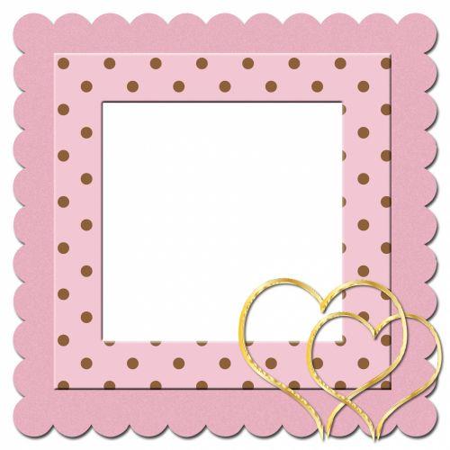rėmas, rožinis, polka & nbsp, taškų, taškai, dėmės, širdis, širdis, auksas, auksinis, Scrapbooking, kortelė & nbsp, Laisvas, viešasis & nbsp, domenas, rožinė polka dots širdies rėmas
