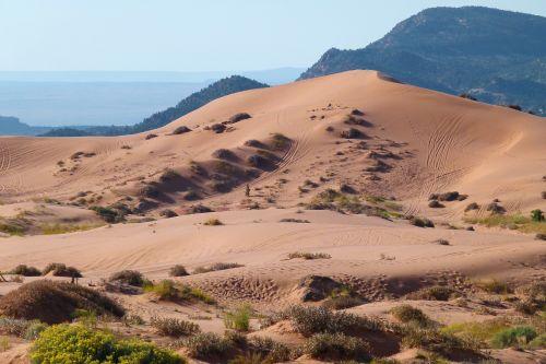 Rožinės Smėlio Kopos, Utah, Usa, Smėlis, Dykuma, Sausas, Karštas, Kopų Koplyčia, Kraštovaizdis, Peizažas, Gamta, Turistų Atrakcijos, Pietvakarių Usa