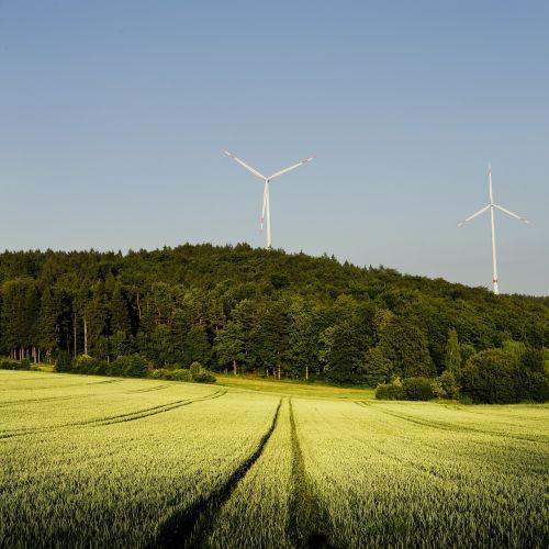 pinwheel,miškas,laukas,kvieciai,bavarija,elektros energijos gamyba,Žalioji energija,ekologija,dangus,vėjo energija,Vėjo turbina,rotorius,energija,aplinkosaugos technologijos,vėjo energija,ekologiškas,žolė,ökostrom weizenfeld,kraštovaizdis