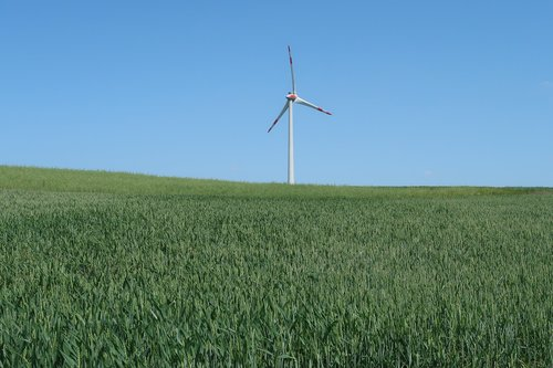 Vėjo Malūnėlio, Alternatyvi energija, vėjo energija, atsinaujinanti energija, dangus, elektros energijos gamybos, vėjo energija, Vėjo turbina, kraštovaizdis, laukas, aplinka, energijos gamyba, Dabartinis, rotoriaus mentės