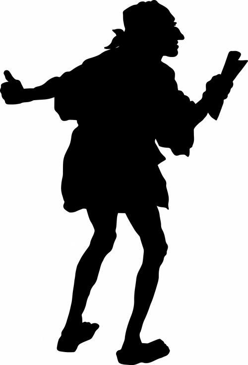 siluetas, žmonės, asmuo, vintage, juoda, žmonės & nbsp, siluetas, vyras, Patinas, piratas, piratas