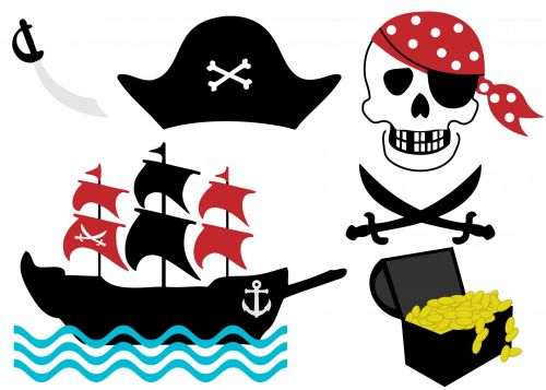 piratas, kaukolė, skersiniai & nbsp, kaulai, inkaras, valtis, skrybėlę, piratas & nbsp, laivas, laivas, Iliustracijos, iliustracija, Scrapbooking, lobis & nbsp, krūtinės, auksas, lobis, krūtinė, kirstukas, piratų clip art