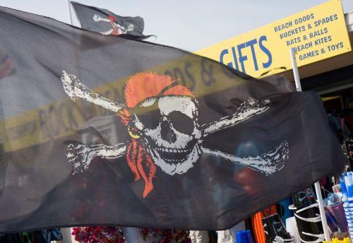 piratas & nbsp, vėliava, piratas, vėliava, kaukolė, juoda, skraidantis, klaidingas, standartas, ženminbi, piratų vėliava