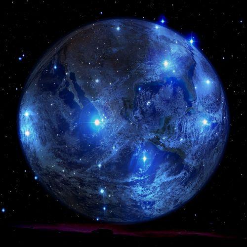 Planeta, Žvaigždė, Visata, Erdvė, Visi, Astronomija, Astronautika, Kosmoso Kelionės, Kosmosas, Šviesa, Žemė