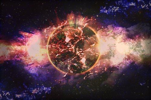 planeta, visata, erdvė, Cosmos, star, galaktika, fonas, astronomija, Anotacija, dangaus kūnas, kosmoso kelionės, Visata Visata, fantazija, astronautikos, tyrimus, sprogimo, siurrealistinis, groessenverhaeltnis, Avarija, Ugnis, bolidas, žvaigždė palapinė, mėlyna, raudona, Violetinė, šviesos, žibintai