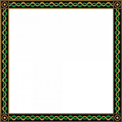 padengtas, geltona, žalias, juoda, rėmas, balta, fonas, padengtas 1 rėmelis