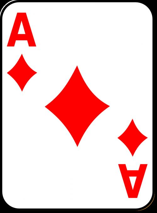 žaidimo korta,ace,deimantas,kazino,žaidimas,azartiniai lošimai,pokeris,lošti,kortelė,lažybos,žaisti,nemokama vektorinė grafika