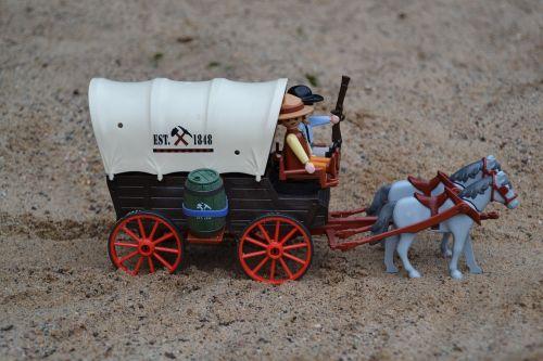 playmobil,Vakarų,usa,amerikietis,padengtas vagonas,prospektas,trapper,arkliai,tiekimas,papildymas