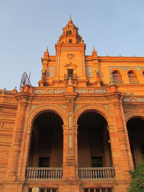 Plaza de Espana, Ispanija, Sevilla, architektūra, statybos, kvadratinių, žymus objektas, Ispanija, Sevilija
