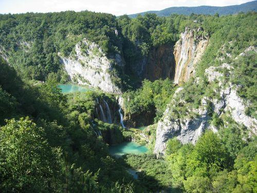 plitwitz,plitvice ežerai,kroatija,krioklys,ežeras,kraštovaizdis,Gorge