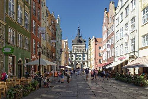 Lenkija, Gdańsk, istorinis centras, ilgai rinka, ilgai rinka, langasser vartai, aukso vartai, Aukso vartai, architektūra, Miestas, statyba, keliauti, kelias