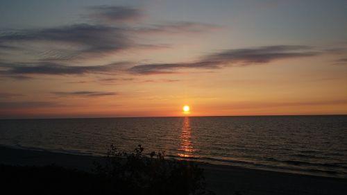 Lenkija,Baltijos jūra,papludimys,dangus,jūra,Krantas,smėlis,horizontas,saulėlydis,gamta,vakarų pomeranija,Krynica jūra