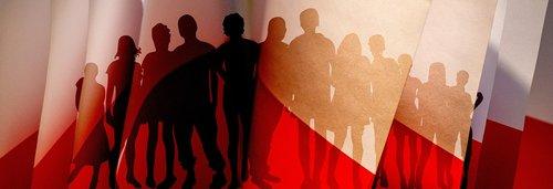 lakas vėliavos, žmonių, siluetas vėliavos, vėliavos, pilietis, Nemokama iliustracijos