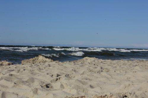 jūra, papludimys, dangus, pajūryje, vanduo, Lenkijos pajūryje