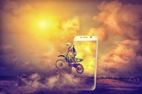 iššokantis vaizdas,mobilusis pop-up,dviračių lenktynininkas,manipuliavimas,manipuliavimas photoshop