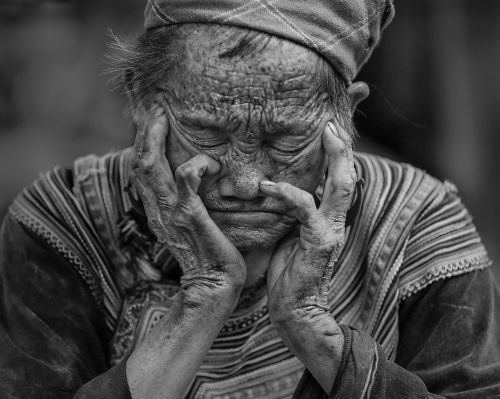 portretas,miego sėdėti,šiaurės vakarus Vietnamas