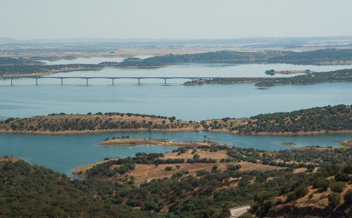 portugal,ežeras,tiltas,užtvankos