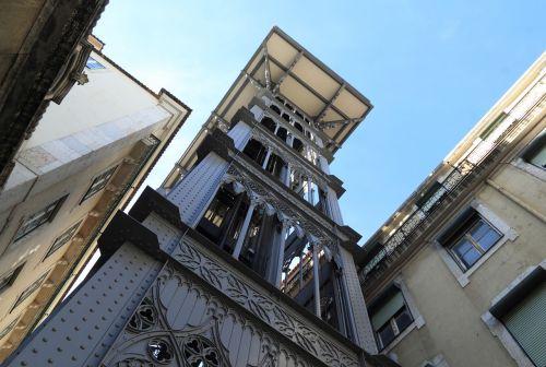 portugal,lisbonas,pėsčiųjų,Liftas,elevador de santa justa,1902,liftas