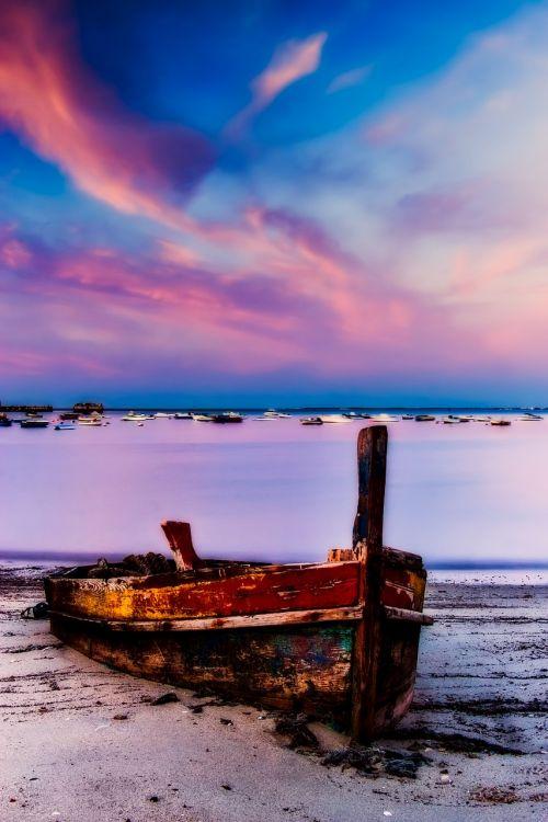 portugal,valtis,burlaiviai,jūra,vandenynas,papludimys,pajūris,mediena,medinis,senas,dangus,debesys,saulėlydis,saulėtekis