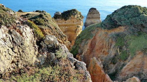 portugal, algarve, lagos, kranto, jūra, dangus, vienišas, gamta, kraštovaizdis, panorama, išplauta, Rokas, be honoraro mokesčio