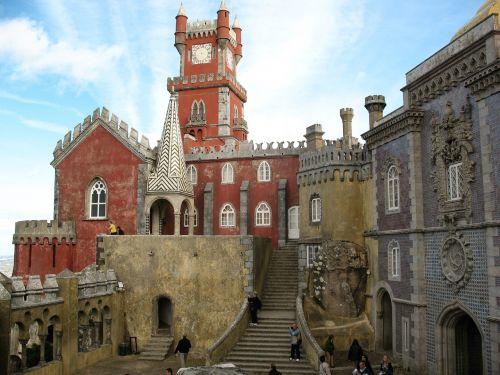 portugal, istorija, tvirtovė, pilis, architektūra, vasara, istorija, bokštas, vaizdas, Sintra