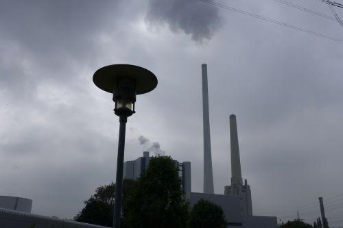 elektrinė,anglies,emisija,nuotaika,niūrus,grasinanti,pilka,ventiliai