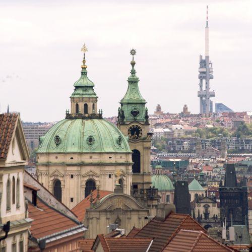 prague, miestas, Čekija & nbsp, respublika, stogai, istorinis, Europa, Praha miestas Čekijos respublika