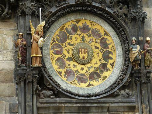 prague,Senamiestis,miestas,Čekijos Respublika,kapitalas,laikrodis,astronominis,astronominis laikrodis,laikas,data,zodiako,mėnulio fazes,žymeklis,figūra,angelas